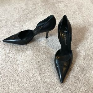 Yves saint laurent black d'orsay heels Sz. 38.5